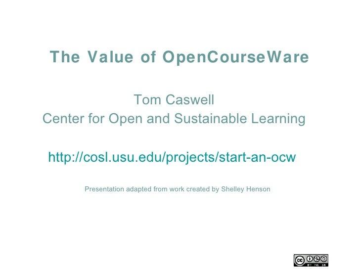 Uof Houston OCW Presentation
