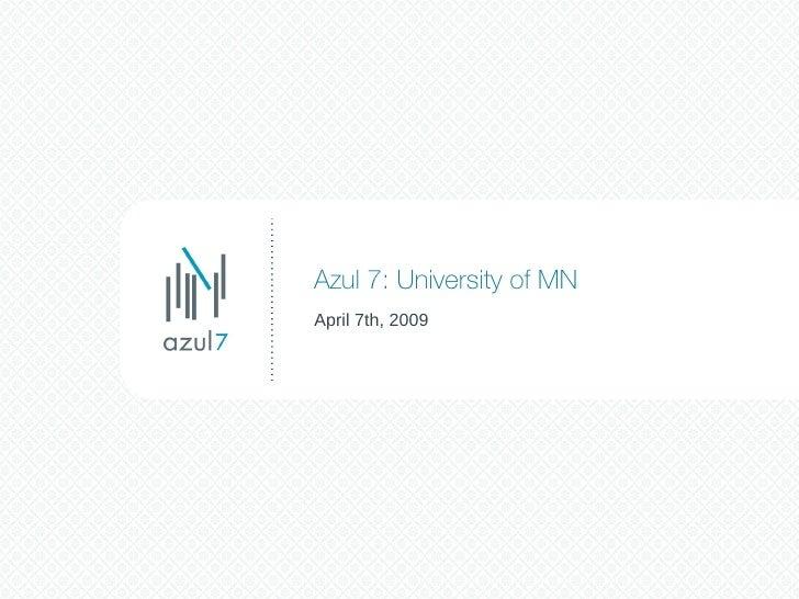 University of Minnesota Presentation