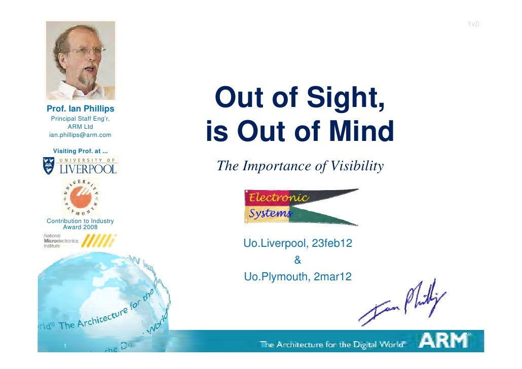 1v0Prof. Ian Phillips Principal Staff Eng'r,                            Out of Sight,                                   Si...
