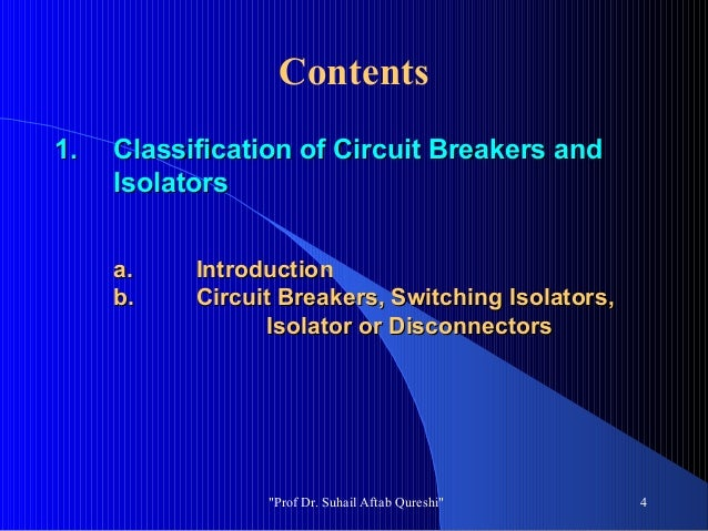 Circuit Classification Classification of Circuit