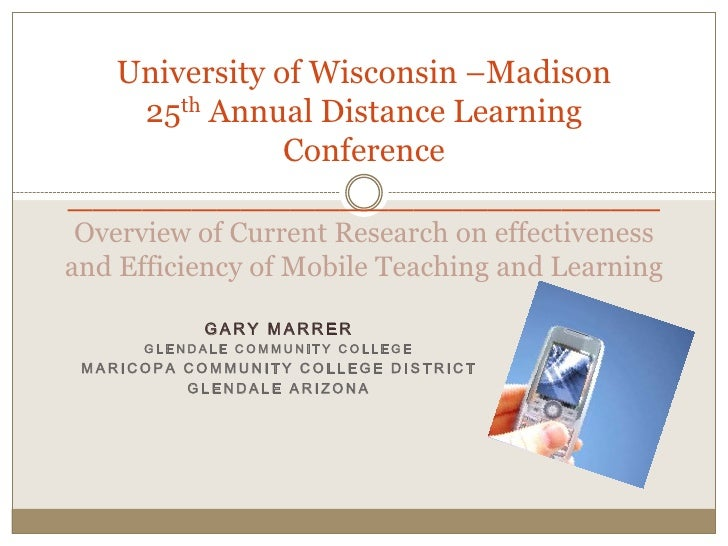 25th Annual Distance Teaching and Learning ConferenceUniversity of Wisconsin –Madison ________________________ Overview of...