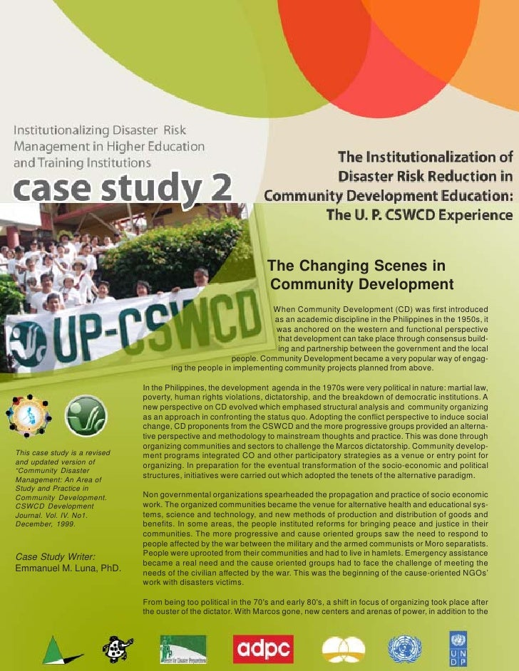 U P  C S W C D  Case  Study