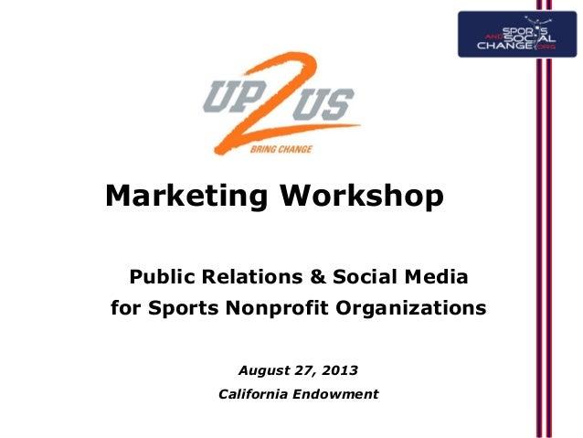 Public Relations & Social Media for Nonprofit Sports Organizations