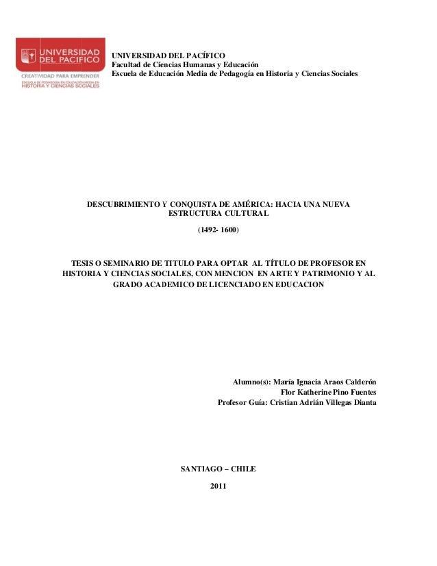 UNIVERSIDAD DEL PACÍ                        D           ÍFICO          Fac            cultad de Cie                       ...