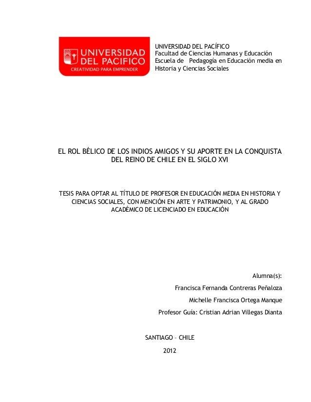 UNIVERSIDAD DEL PACÍFICO                              Facultad de Ciencias Humanas y Educación                            ...