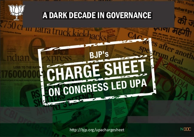 A DARK DECADE IN GOVERNANCE h p://bjp.org/upachargesheet