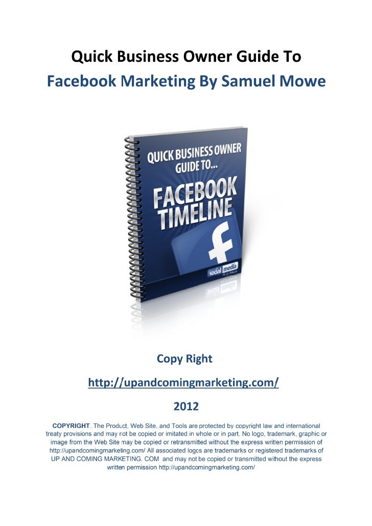 Quick Business Owner Guide To The Facebook TimeLine