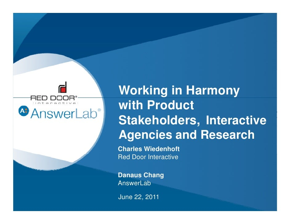 Working in Harmony with Interactive Agencies and End Clients