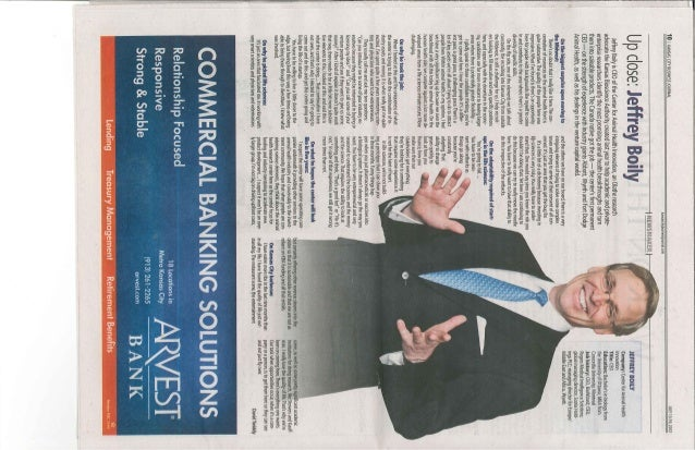 Up & close with Jeff Boily- Business Journal - July 2012