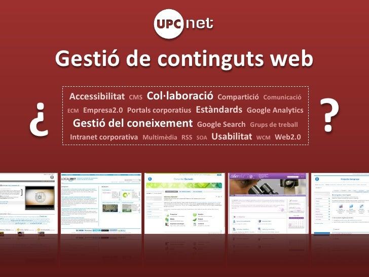 UPCnet: Gestió de continguts web