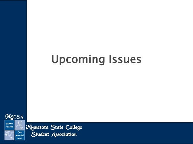 Upcoming issues