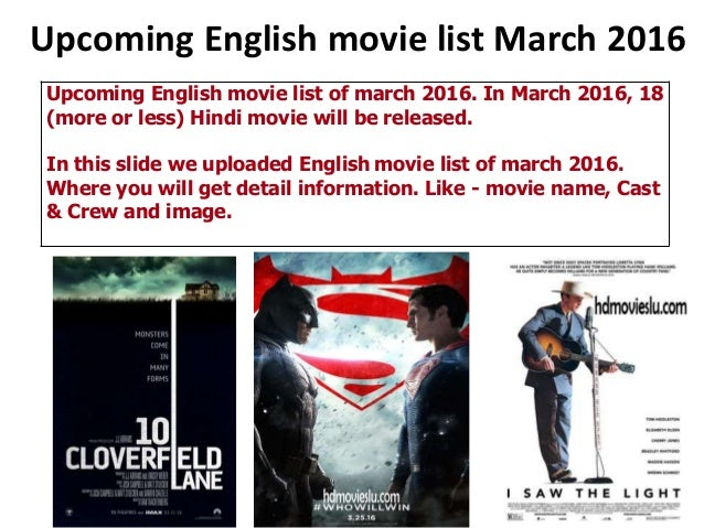 movies list english