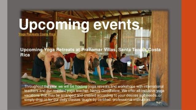 Upcoming events at Santa Teresa Costa Rica