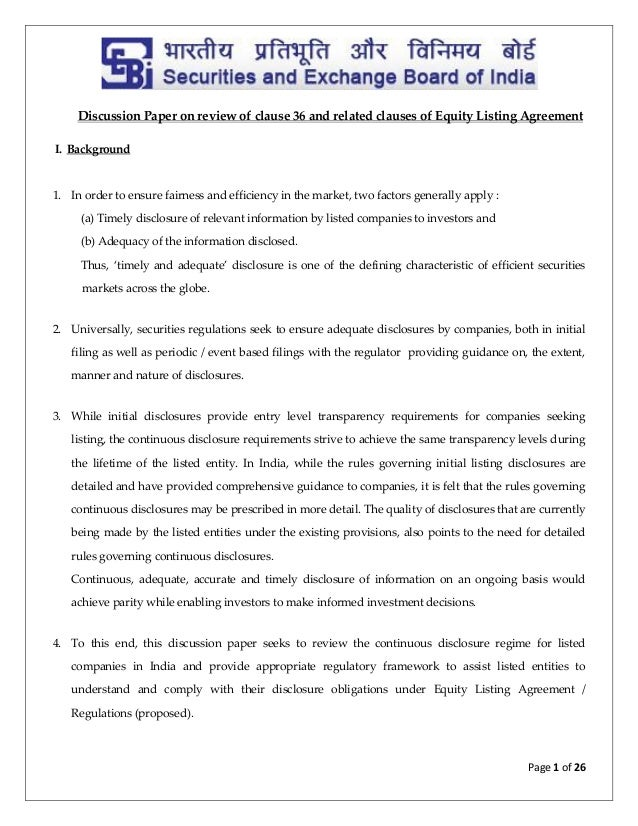 continuous disclosure obligations abridged guide Essay on continuous disclosure 8124 words | 33 pages important notice: asx has published this abridged guide to assist listed entities and their officers to understand and comply with their continuous disclosure obligations under the listing rules.