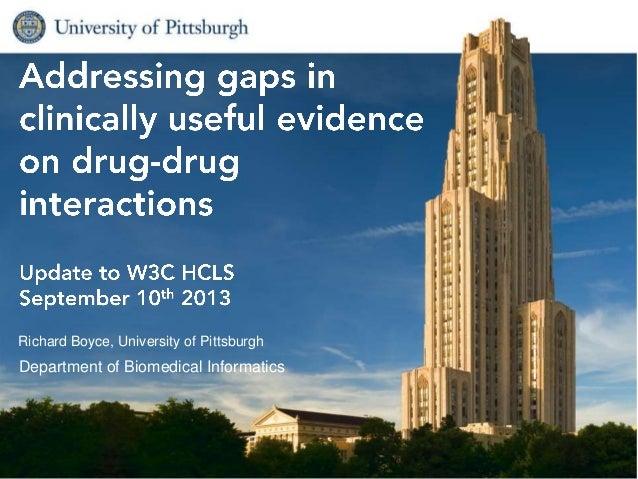 Richard Boyce, University of Pittsburgh Department of Biomedical Informatics