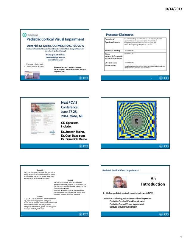 AAO Presentation: Pediatric Cortical Visual Impairment