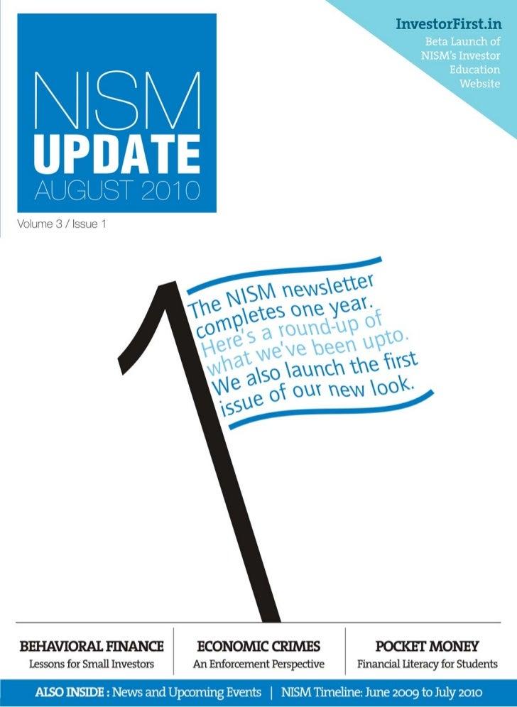 NISM Update - August 2010