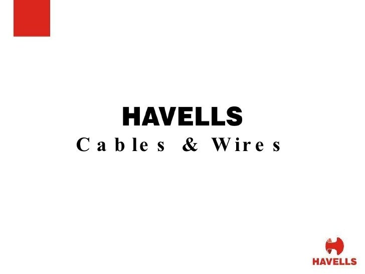havells cables and wires