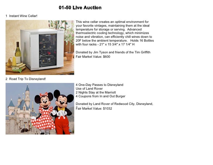 TGMF 4th Annual Fundraiser Auction Catalog (Update 1)