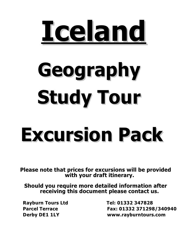 Updated Excursion Pack. Iceland.