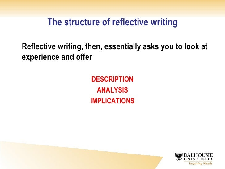 critical reflective analysis essay