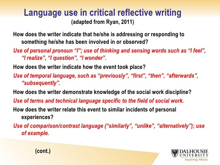 Critical Self Reflection Essay Example