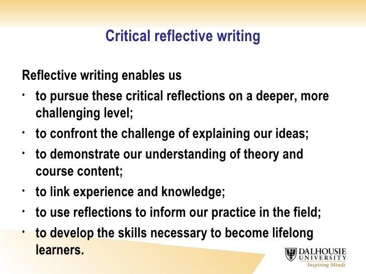 Writing A Self Reflective Essay