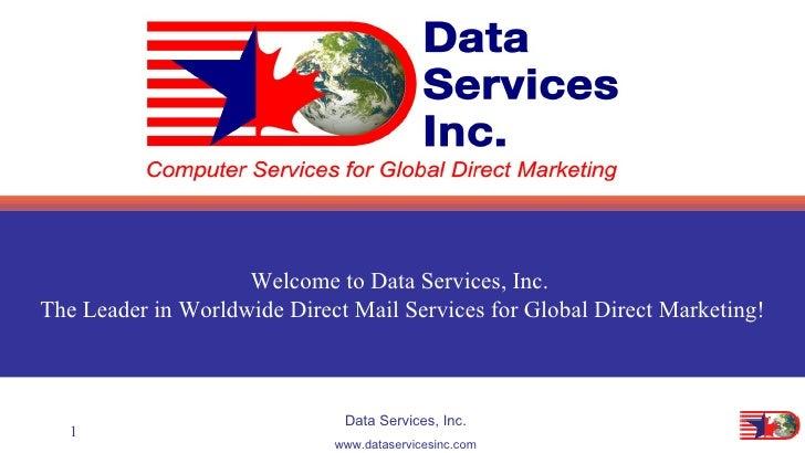 Data Services Company Presentation