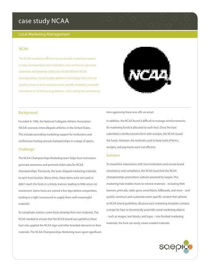 Case Study of NCAA