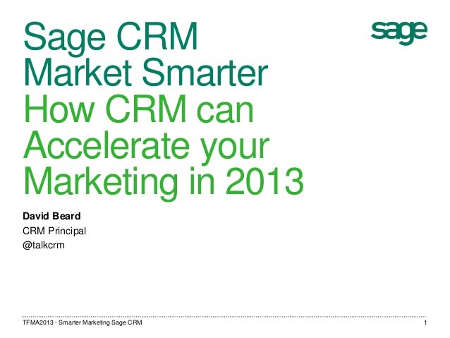 Smarter Marketing With Sage CRM