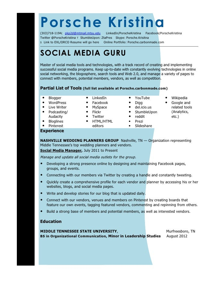 social media resume template 45 images the social