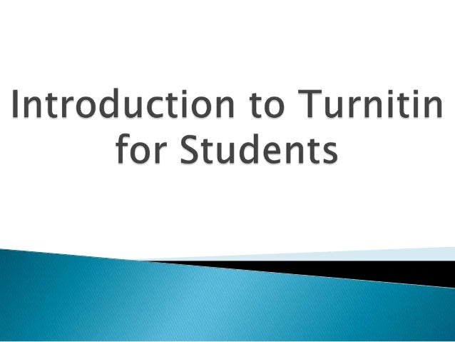 Updated student turnitin