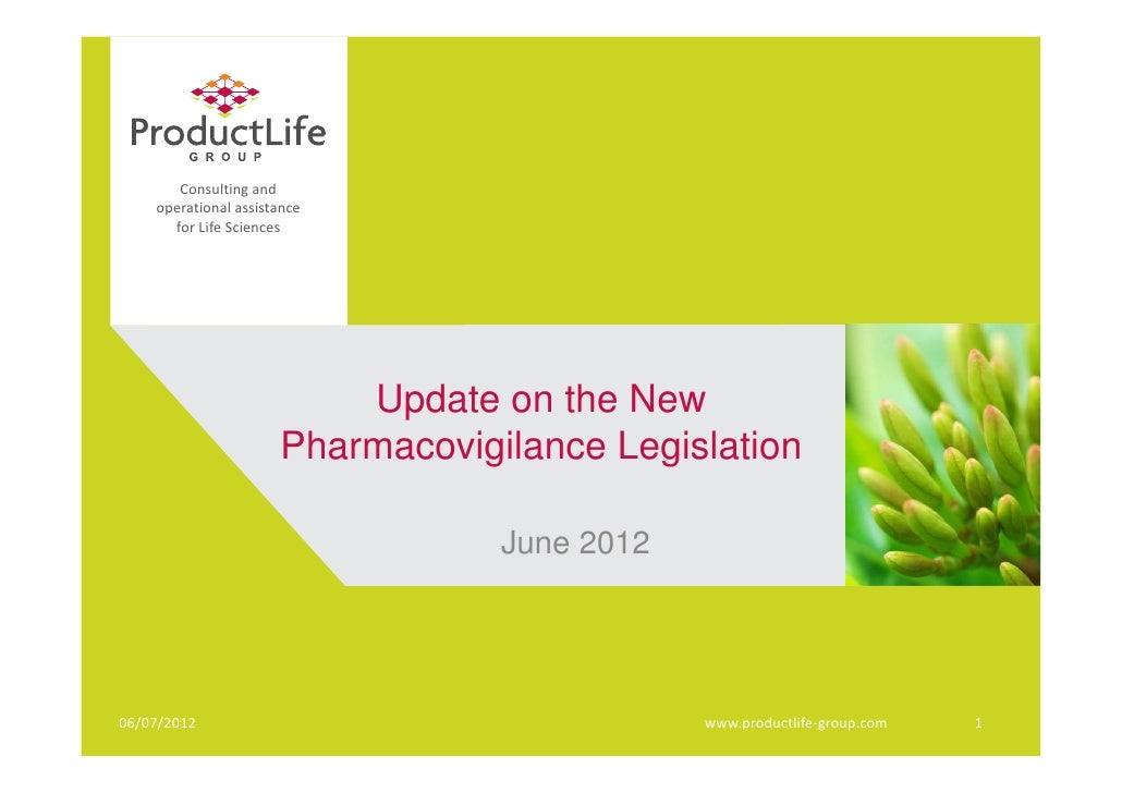 Consultingand    operationalassistance      forLifeSciences                          Update on the New                ...