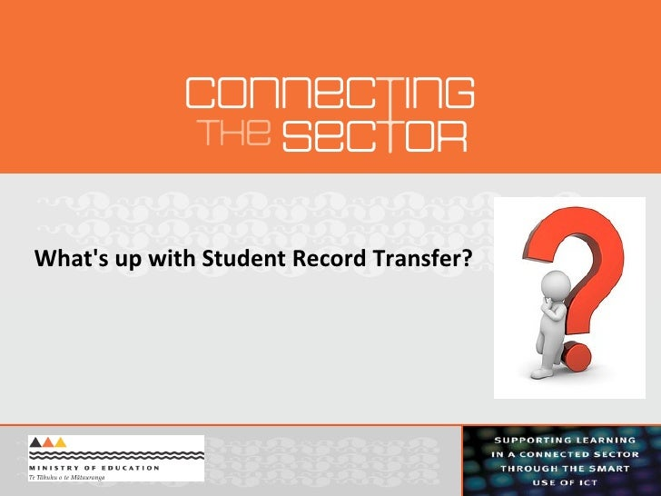 What's up with Student Record Transfer?