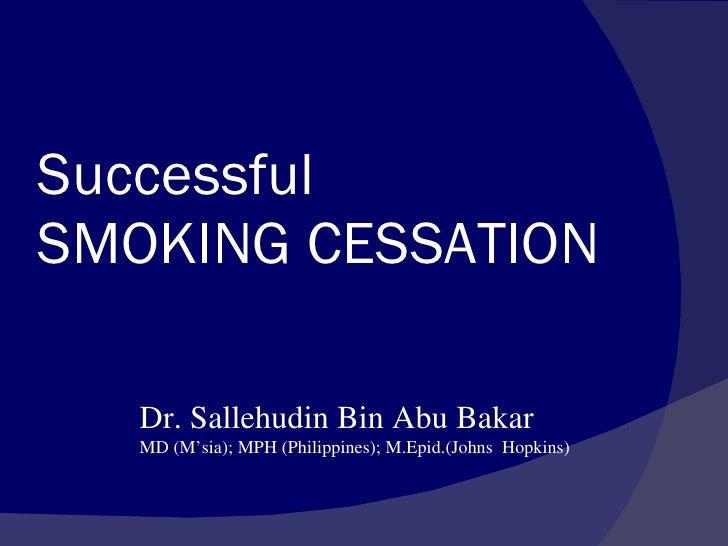 Updates On Smoking Cessation