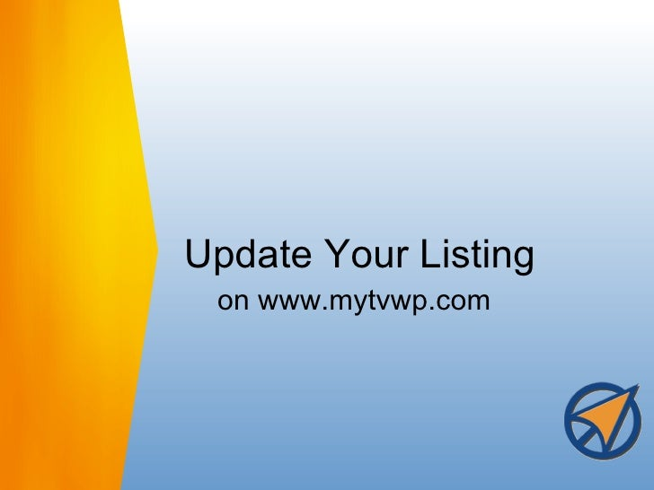 Update Your Listing on www.mytvwp.com