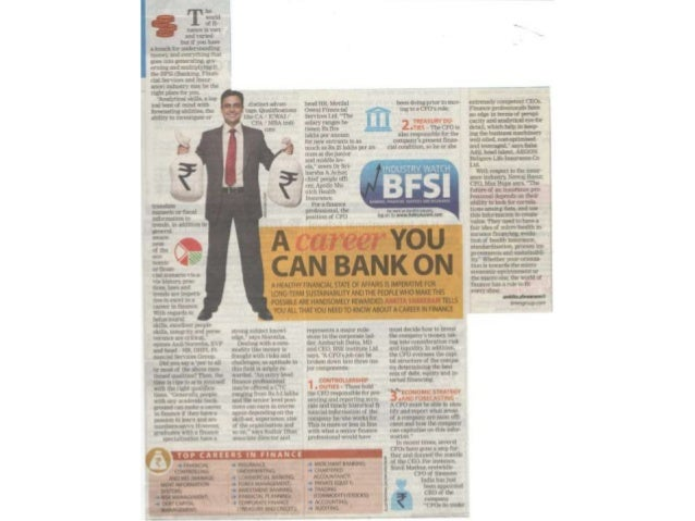 Article on BFSI industry