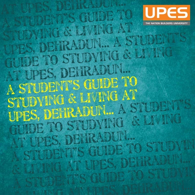 Upes Students Guide Book