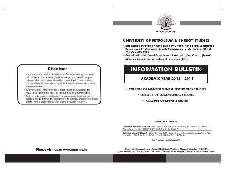 UPES information bulletin - 1