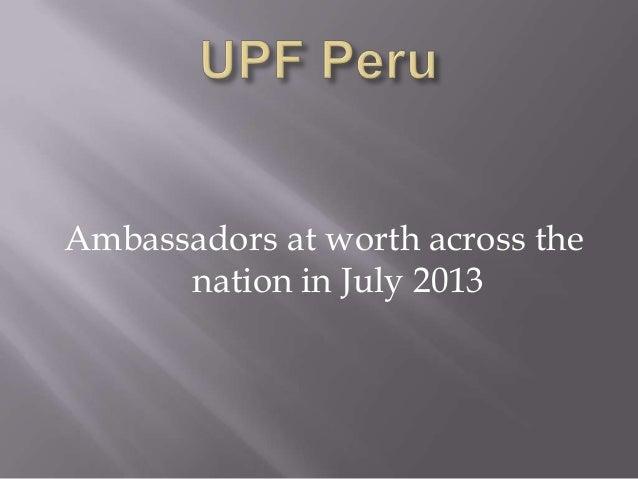 Upf peru july 2013