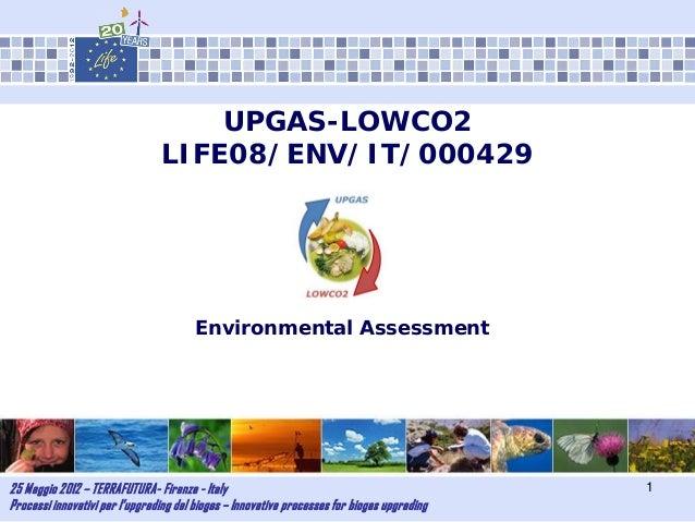 25 Maggio 2012 – TERRAFUTURA- Firenze - ItalyProcessi innovativi per l'upgrading del biogas – Innovative processes for bio...