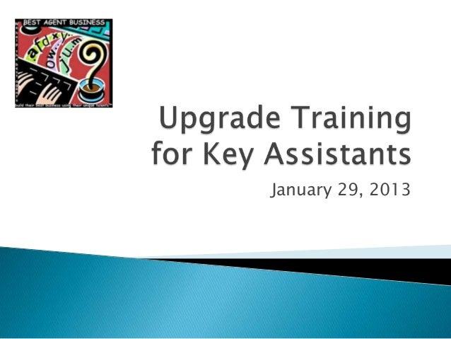 Upgrade training