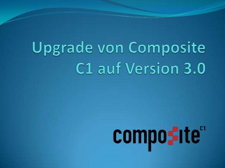 Ende des letzen Jahres ist die Version 3.0 des Content Management SystemsComposite C1 erschienen.Um nun die hier vorgestel...