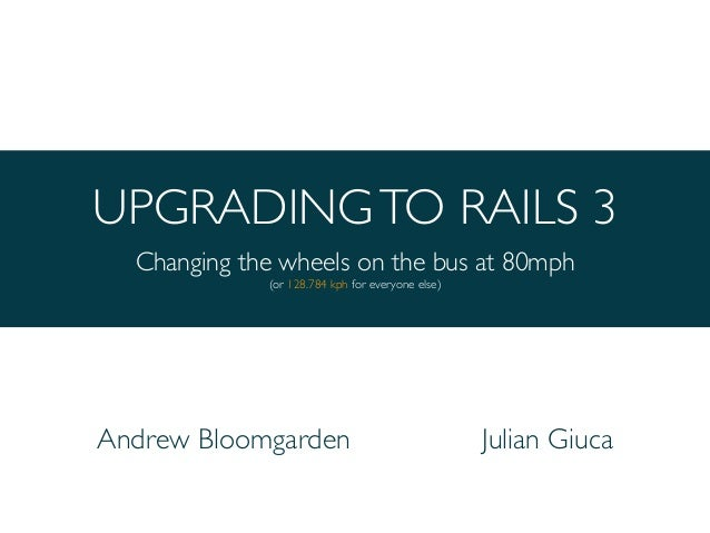 Upgrading to Rails 3