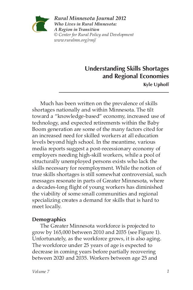 Understanding Skills Shortages and Regional Economies