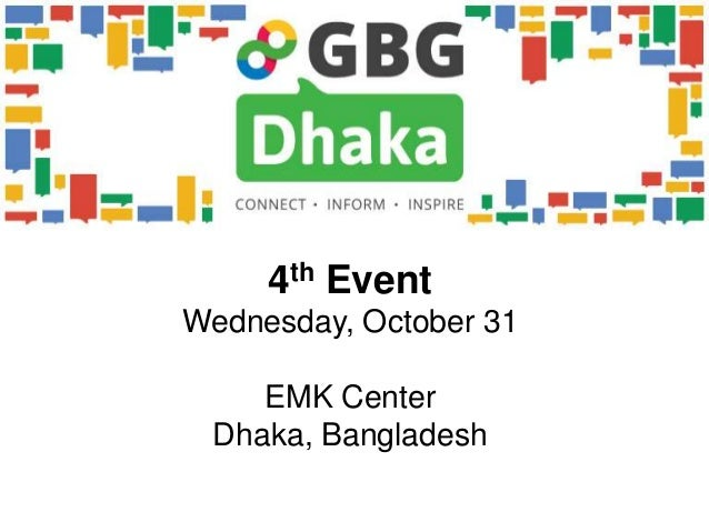 4th EventWednesday, October 31    EMK Center Dhaka, Bangladesh