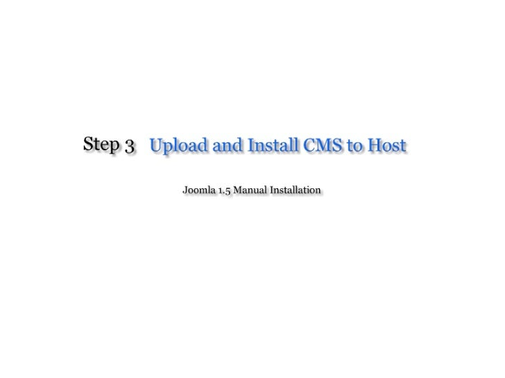 Upload And Install CMS to Host