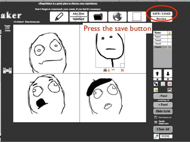 Press the save button
