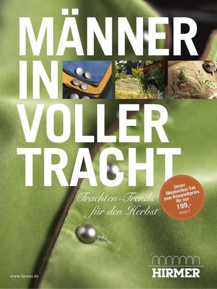 MÄNNER  IN  VOLLER  TRACHT        Trachten-Trends                                        Unser t-Set                      ...