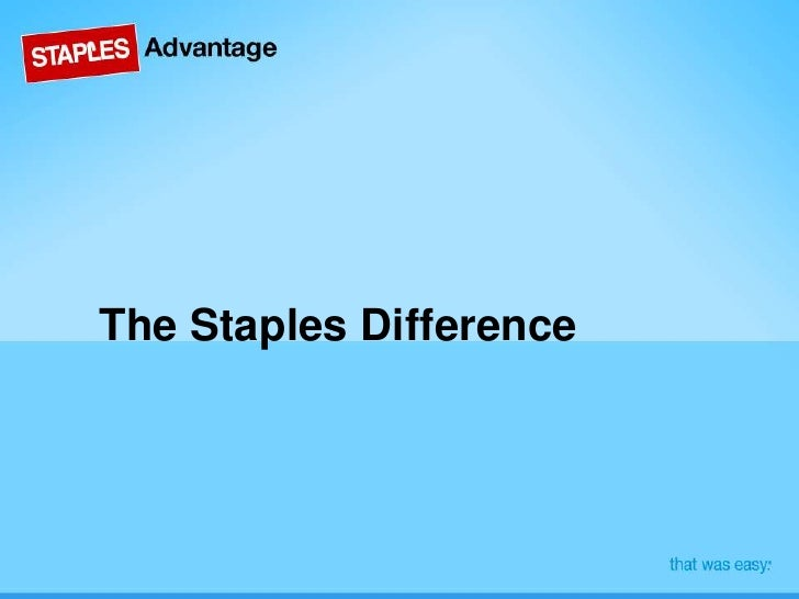 The Staples Difference